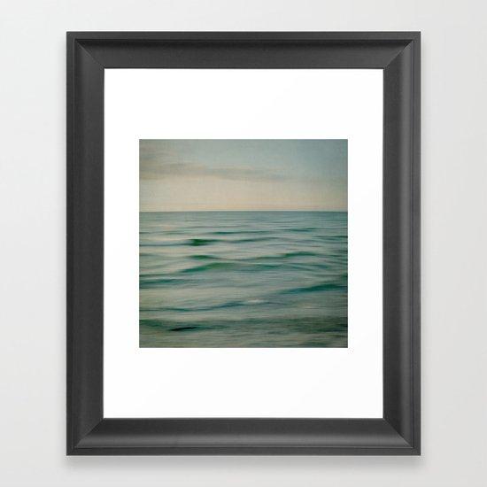 sea square V Framed Art Print