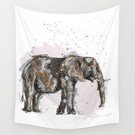 Elephant Mommy Wall Tapestry