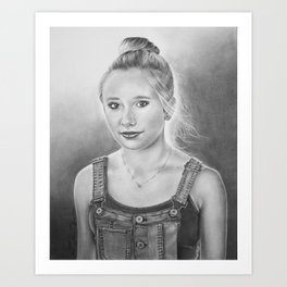 Portrait of Corrie Art Print