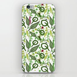 Nature friends - little bugs and leaves iPhone Skin