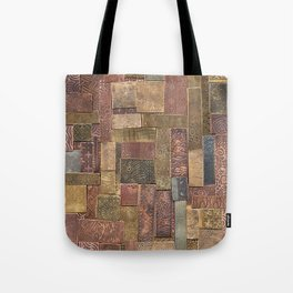 Etched Metal Patchwork Tote Bag