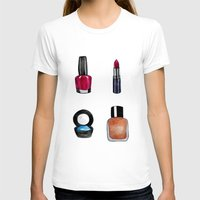 makeup T-shirts featuring Makeup is my art by Natalie Murray