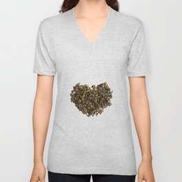 Dried and curled leaves of Oolong Unisex V-Neck