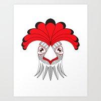 cock Art Prints featuring Cock by HandeAylan
