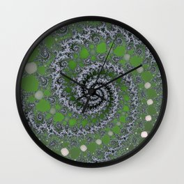 Fractal Swirl Wall Clock