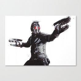 Star-Lord (Peter Quill) Guardians Graffiti Pop Urban Street Art Canvas Print
