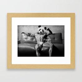 Panda Love Model Framed Art Print