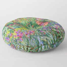 Claude Monet - The Iris Garden At Giverny Floor Pillow