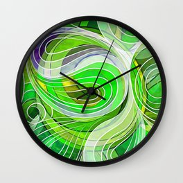 Everything Is Created Imperfect Iced Limes Wall Clock