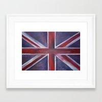 british flag Framed Art Prints featuring British by Magdalena Hristova