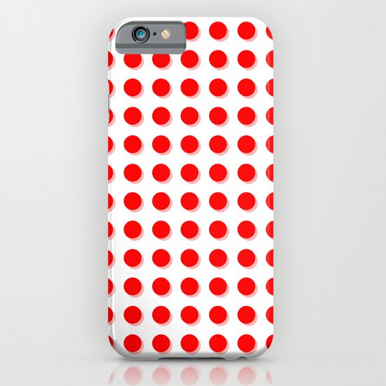 Red spots with pink shadows iPhone & iPod Case