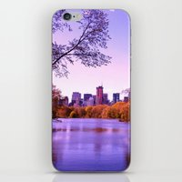 central park iPhone & iPod Skins featuring Central Park by Anna Andretta