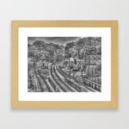 Goathland Station & Sidings Framed Art Print