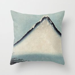 Hokusai, the blue fuji- hokusai,manga,japan,fuji, blue fuji,Shinto Throw Pillow