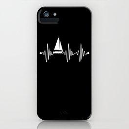 Sailing Sail Sailboat Heartbeat Pulse iPhone Case