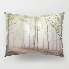 A Walk In The Foggy Forest Pillow Sham