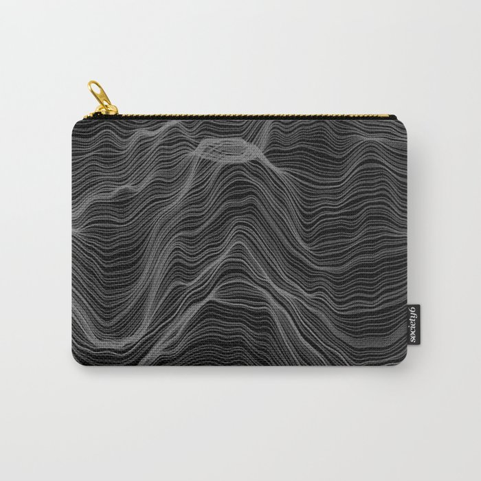 Soft Peaks Black Carry-All Pouch