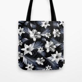 Tropical Flowers Palm Leaves Finesse #4 #tropical #decor #art #society6 Tote Bag