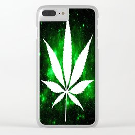Weed : High Times Green Galaxy Clear iPhone Case