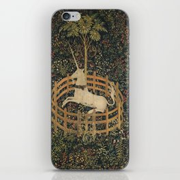 The Unicorn in Captivity (from the Unicorn Tapestries) iPhone Skin