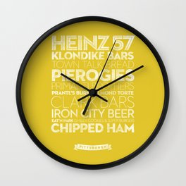 Pittsburgh — Delicious City Prints Wall Clock