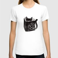 witchcraft T-shirts featuring Witchcraft Cat by Tobe Fonseca