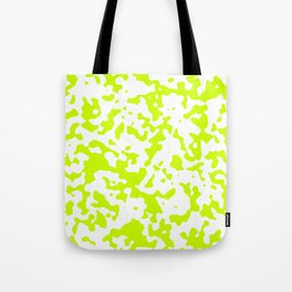 Spots - White and Fluorescent Yellow Tote Bag