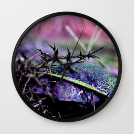 Mushrooms from other planet Wall Clock