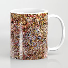 ELECTRIC 071 - Jackson Pollock style abstract design art, abstract painting Coffee Mug