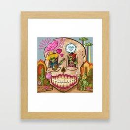 Mexican Skull House Framed Art Print