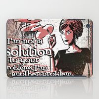 mad men iPad Cases featuring Joan from Mad Men by Joe Badon