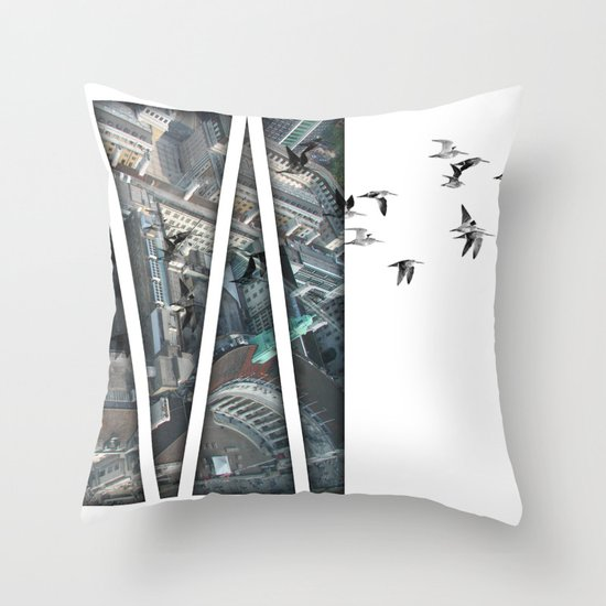 defection Throw Pillow