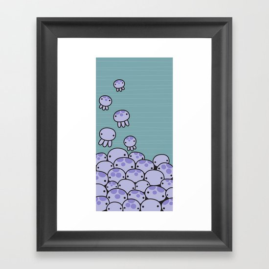 Octo Attack Framed Art Print