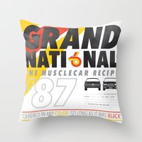 the national Throw Pillows featuring Grand National by CynthiaLeduc