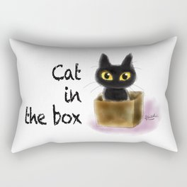Cat in the box Rectangular Pillow