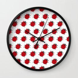Ladybug Pattern_H Wall Clock