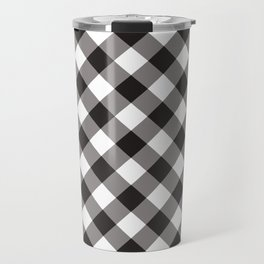 Gingham - Black Travel Mug