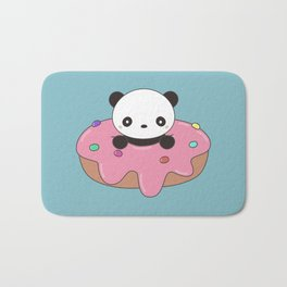 Kawaii Cute Panda Donut Bath Mat