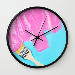 HYPERCOLOR PAINT AND BRUSH Wall Clock