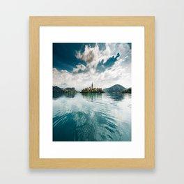 bled lake Framed Art Print