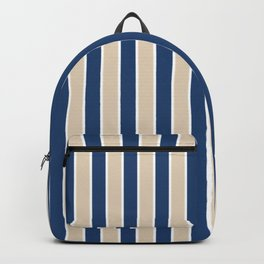 Navy and tan stripes Backpack