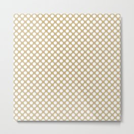 Large Snow White Spots on Christmas Gold Metal Print