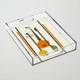 Mid-Century Modern Art Musical Strings Acrylic Tray