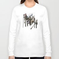 truck Long Sleeve T-shirts featuring Monster Truck by Jonathan Sims