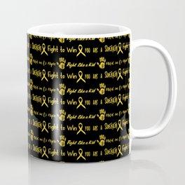 Childhood Cancer fight like a kid gold on black Coffee Mug