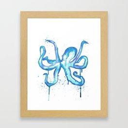Octopus Drip Framed Art Print