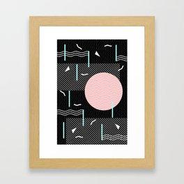 Memphis Summer Night Framed Art Print
