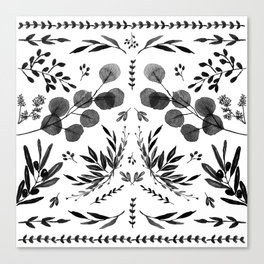 Black and white scence Canvas Print