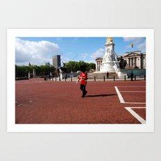 Guard and his Shadow 2 Art Print