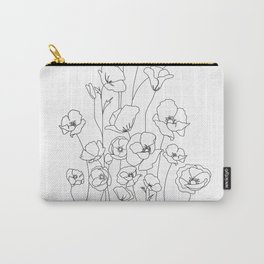 Poppy Flowers Line Art Tasche